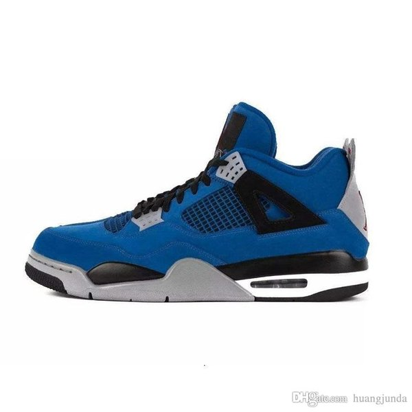 huge selection of 951db 24206 2019 Cheap Mens Jumpman 4 IV Basketball Shoes 4s NRG Eminem Encore Royal  Blue Black Denim White Cement OG J4 Jumpman Iv Sneakers Boots For Sale From  ...