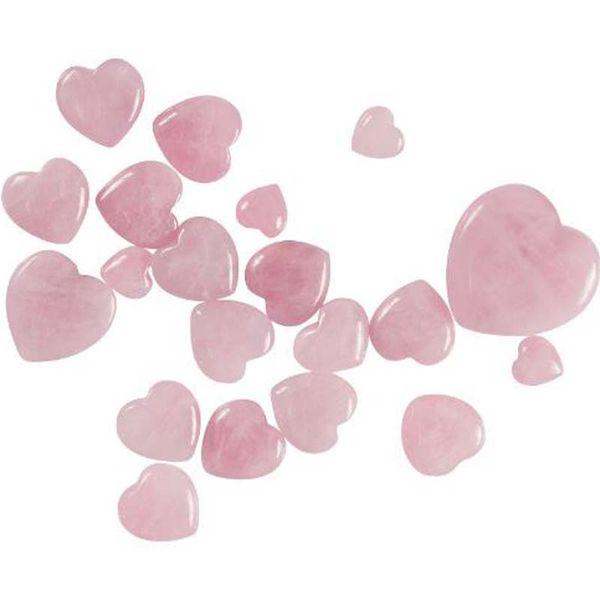 Natural Cuarzo rosa En forma de corazón Rosa de cristal Tallado Amor de amor Piedra preciosa curativa Amante Regalo Piedra Cristal Corazón Gemas