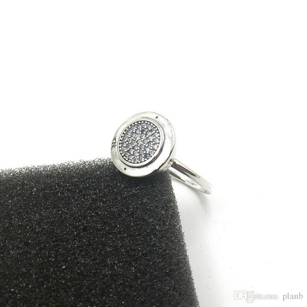 Pandora Kadın Halkalar Moda Alyans Hediye Takı için Orijinal kutusu ile 925 Gümüş cz Elmas PAN HALKASI