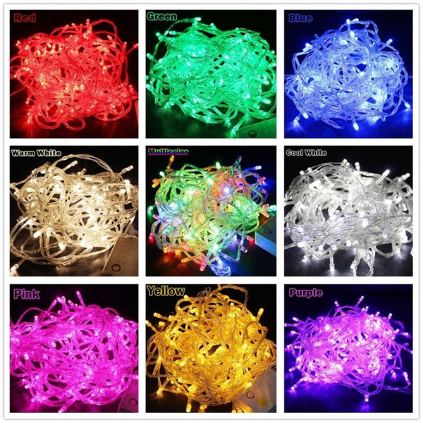Luces de navidad 10m 20m 30m 50m 100m Cuerda decorativa Led Fairy Light 8 modos Guirnaldas Luces para fiesta de boda Luces navideñas