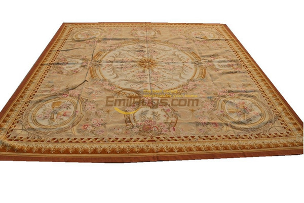 aubusson - vintage wool floral carpet hand knitted carpets wall art rectangle carpet aubusson