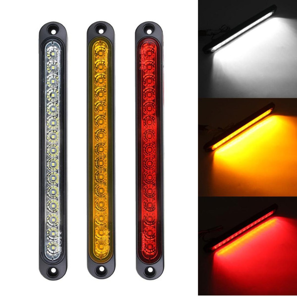 12 V 24 V Amarelo Vermelho Branco Luzes Universal LED Luz Traseira Da Cauda para a Bandeja Voltar Ultra-Slim Caminhão Reboque UTE Blinker