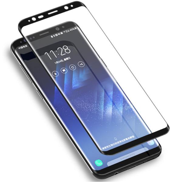 3D Curved Case Hartglas Displayschutzfolie für Samsung Galaxy S10 Plus 5G S9 Note10 8 9 LG G8 Huawei P30