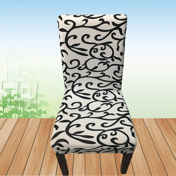 Printing Spandex Elastic Chair Cover Home Dining Chair Seat Cover Kitchen  Seat Case Removable Stretch Slipcovers Chair Cover For Banquet Affordable  ...