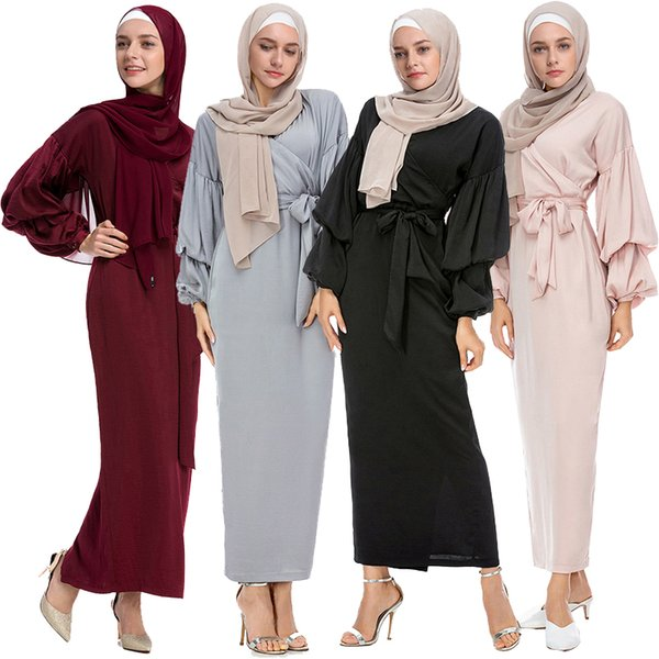 Vestidos Kaftan Abaya Dubai Arabic Islam Turkey Long Muslim Hijab Dress UAE Abayas For Women Turkish Islamic Clothing Robe Femme