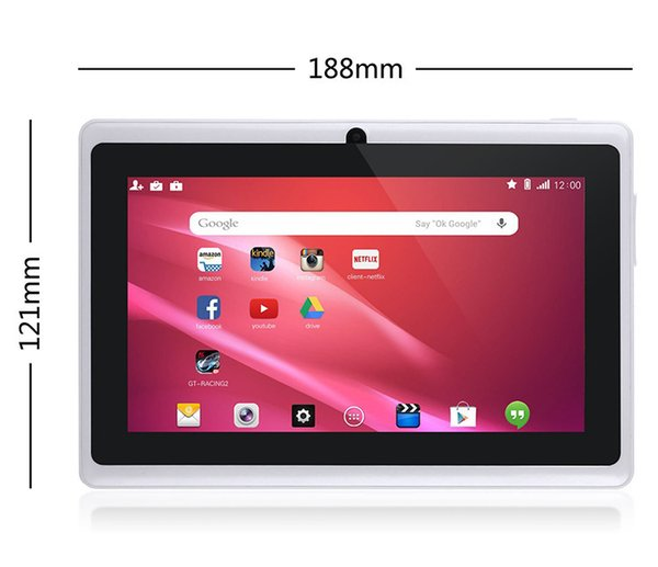 top popular 7inch Android TabletPC Q88 Quad Core Children Tablet Android 4.4 Allwinner A33 Player 1 8GB WIFI Speaker Protective Cover 2020