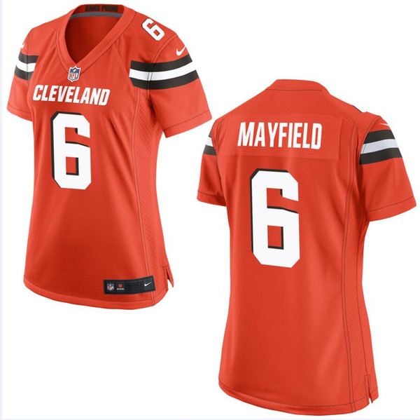 low priced bb5ed 4fa2b 2019 Cleveland Odell Beckham Jr Browns Jersey Baker Mayfield Myles Garrett  Jarvis Landry Jim Brown Custom American Football Jerseys Color Rush From ...