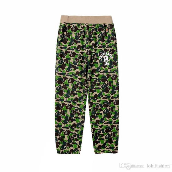 Autumn Winter Wholesale Lover's Loose Hip Hop camo Cotton Pants Kanye West Men Women Camo Print Cotton Sweatpants Pants