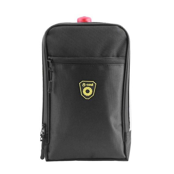 Splashproof Bicycle Back Seat Bag Rear Trunk Pouch Handbag with Light Black
