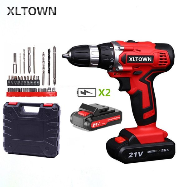 21V Cordless Drill Set Driver Screwdriver Li-Ion Battery Fast Charge 2019 New