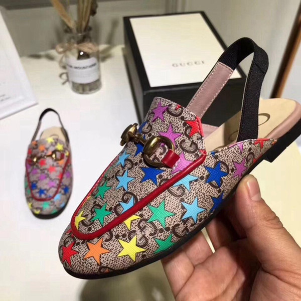 Designer Kids Shoes Toddler Sandals For Wedding Dressing Up en cuir véritable Kids Sandales Designer à vendre Filles Chaussures Boutiques