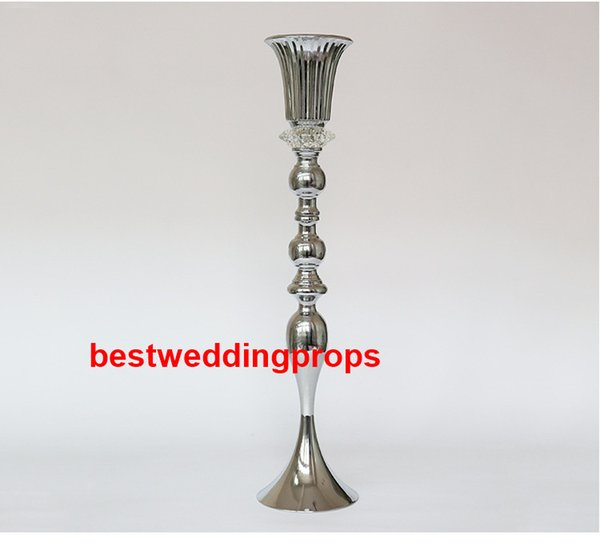 New style Table Top acrylic crystal diamond Wrought Iron Chandelier Centerpieces For Weddings best0879