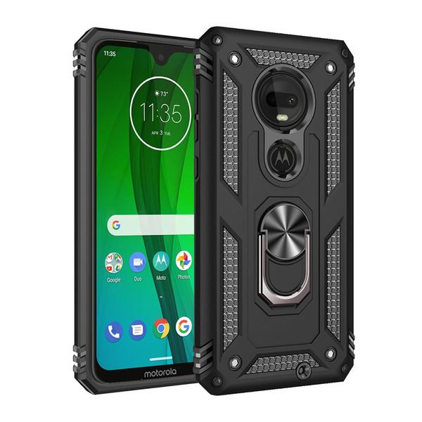 kickstand titular de anel à prova de choque Armour casos telefone de volta capa para MOTO G7 G8 Z4 E6 uma ação Zoom macro jogo pro Power Plus