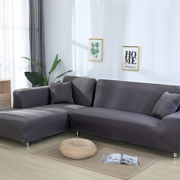 Grey Color Elastic Couch Sofa Cover Loveseat Cover Sofa Covers For Living  Room Sectional Slipcover Armchair Furniture Sofa Protector Cover Slip  Covers ...