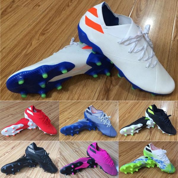 Men Soccer Cleats Nemeziz Messi 19.1 FG 302 Redirect Copa América Football Boots 360 Agility Chaussures Blue Red Yellow chuteiras de futebol