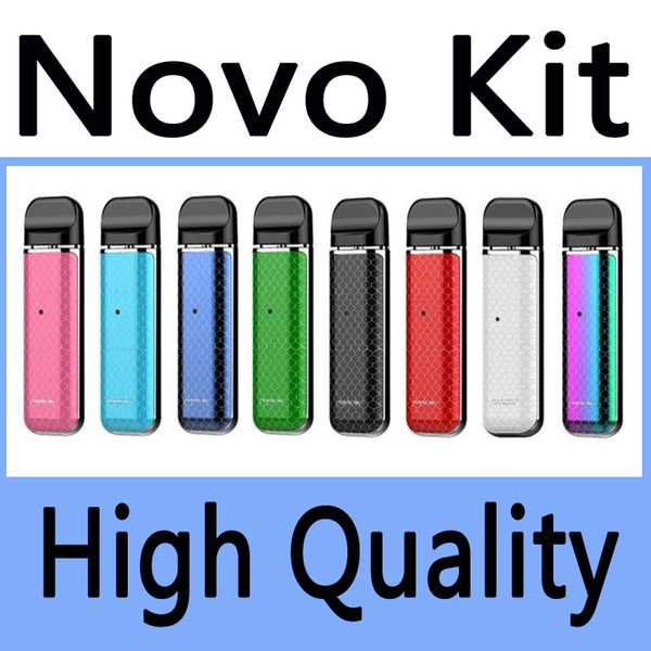 TOP Quality Novo Vape Pod System All-in-one Starter Kit Built-in 450mAh Battery With 2ml Empty Cartridges vs Suorin Drop JUUL