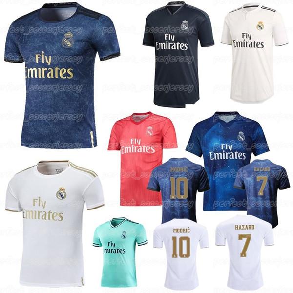 19-20 Real Madrid Meistverkauftes Fußballtrikot 7 HAZARD 10 MODRIC 6 Nacho 5 VARANE Fußballtrikots für Herren und Kinder