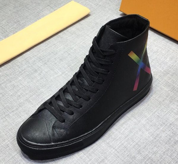 Brand Name Louise Men Ankle Waterproof Flat Heel Autumn Winter Boots High Top Casual Shoes Size 38-45