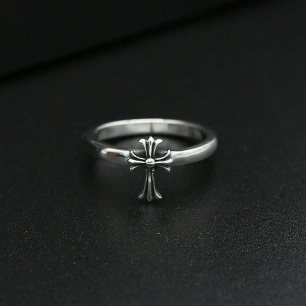 Nouveau 925 bijoux en argent sterling vintage style américain fait main designer anneaux croix design antique argent belle cadeaux K3538