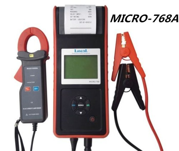 Lancol Auto 12v CCA Battery Tester Analyzer MICRO-768A Battery Conductance Tester Printer for starting and charging system