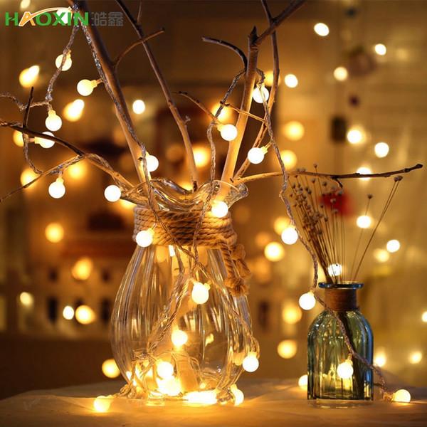 Haoxin 1.5M 3M 6M 10M Fairy Garland LED Бал гирлянд Водонепроницаемый для рождественской елки Свадебные дома Indoor украшения с питанием от батареи