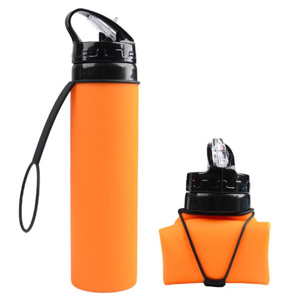 Saco de água de grande capacidade de poupança garrafa espaço à prova de vazamento ao ar livre Chaleira Caminhadas Portátil Dobrável Equitação Silicone Copa Esportes