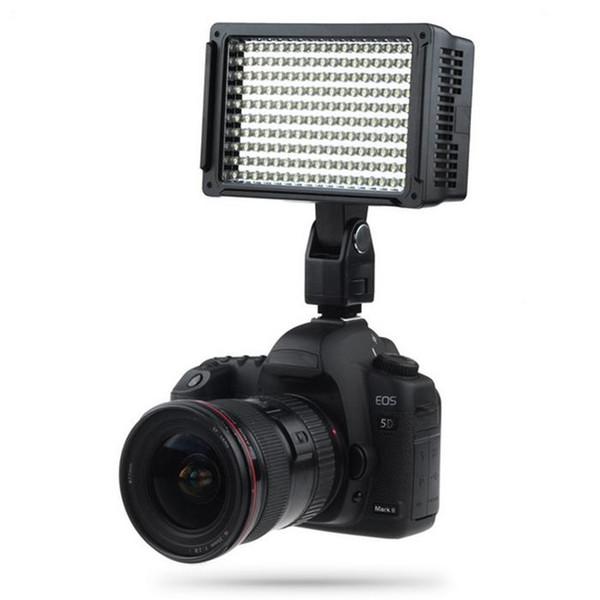 Lightdow Pro High Power 160 LED Lámpara de videocámara con cámara de luz de video con tres filtros 5600K para cámaras DVon Cannon Nikon Olympus LD-160 BA