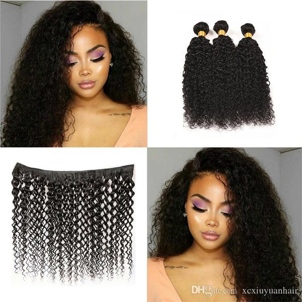 Grado Virgin Virgin Hair Bundles Jerry Curly Raw Virgin Indian Hair 3 Bundles Venta al por mayor de Color Natural Doble Trama Envío Gratis