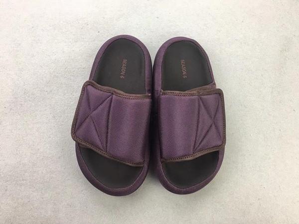 19Envío exclusivo en los tres colores, zapatillas de moda Kanye West SEASON 6 originales de primera calidad Sandalia de zapatillas de pan con tamaño de caja: 35-47