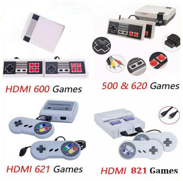 HOT Arrival Mini TV 500 600 620 621 821 Game Console Video Handheld for NES games consoles with retail boxs hot sale toys B11