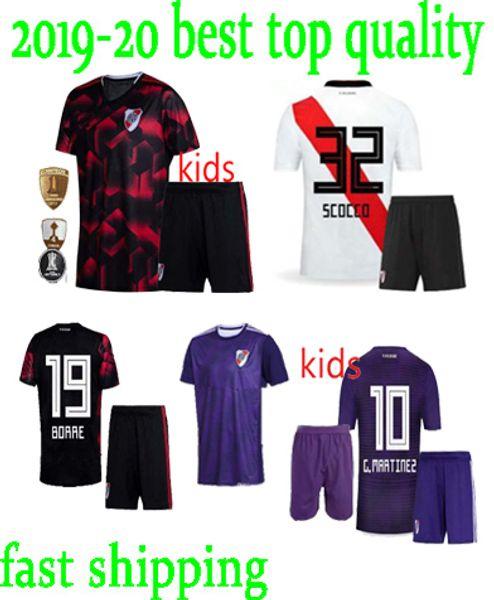 2019 River Plate kids kit home white Soccer Jersey River Plate #10 MARTINEZ away Soccer Shirt 18 19 riverbed Child Football Uniform Sales