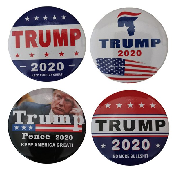 Trump 2020 Broche président Pins campagne Donald Trump Broochs Dome Épinglette Epingles Keep America Great 7 Designs Z0123