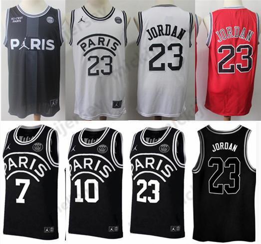 2019 PSG Paris Jersey 23 Michael JD 7 MBAPPE Paris Basketball Jerseys PSG X AJ Paris Saint Basketball Jersey Kit Maillot High quality