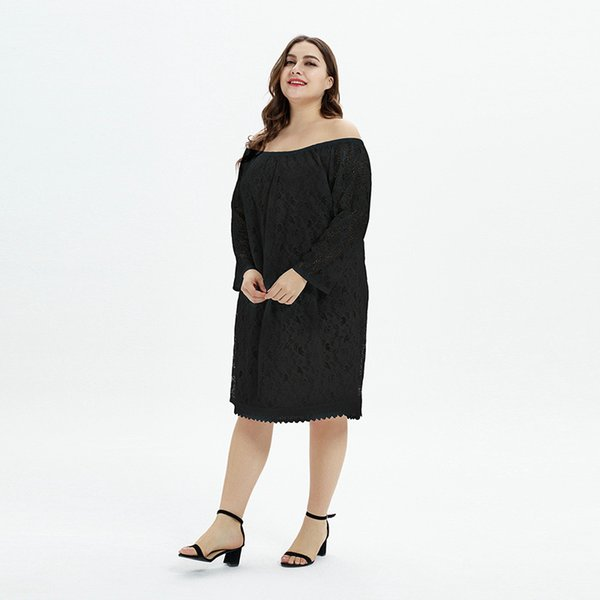 2019 Will Code Suit-dress Fat Mm Increase Fertilizer Enlarge One Clothes Two Clothes Lace Dress