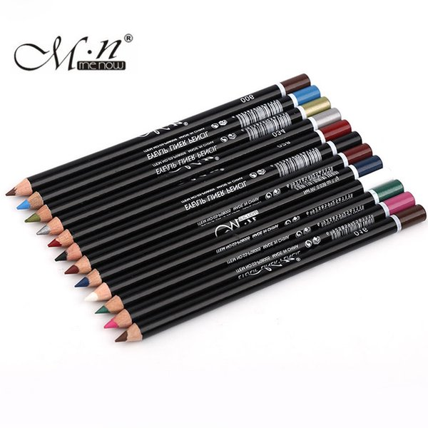 Menow 12 Colors Colorful Eyeliner Pen Long Lasting Eye Pencil Waterproof Beauty Makeup Cosmetics Eye Liner Pen Kit 12Pcs/Set
