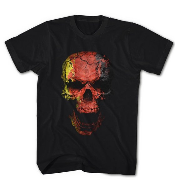 Men's T-Shirt Biker German Skirt Skull Grunge Vintage Skull NEW S-5XL DS216Funny free shipping Unisex Casual Tshirt top