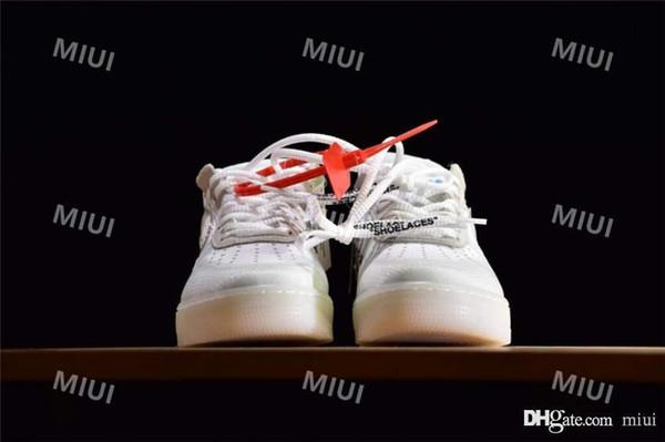 Großhandel 10X Forces Low Airs Kissen 1 Laufschuhe für Männer Die Pure White Sport Trainer Frauen Designer Schuhe US5.5-11