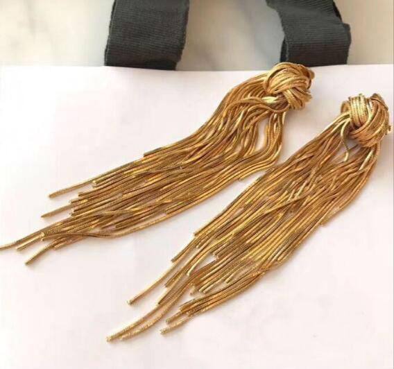 Designer de jóias borla brincos pendurados garanhão longo borla brincos Longo Dangles Ear Jóias De Luxo Para As Mulheres