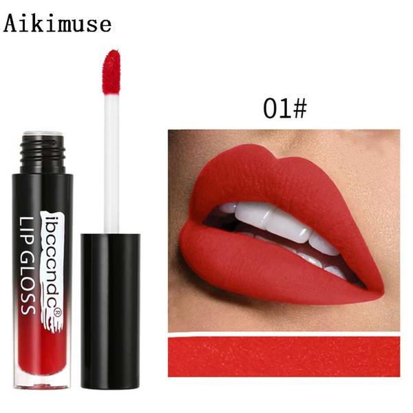 Matte Waterproof lasting Lip Gloss Non-stick Cup Liquid Lipstick Beauty Brush Lip Glaze