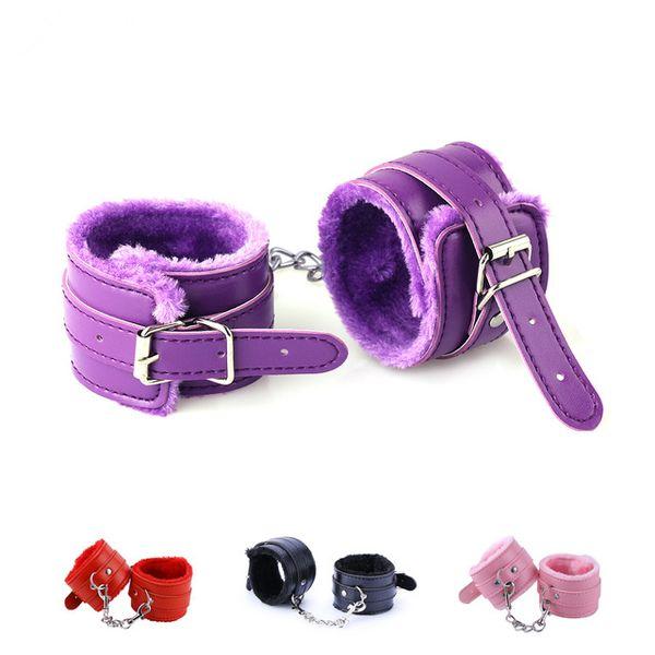 top popular 4 Colors Soft PU Leather Handcuffs Restraints Slave bdsm Bondage Sex Products Adult Game Sex Toys for Couples 2020