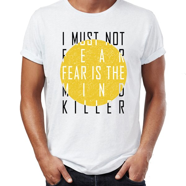 Men's T Shirt Fear Is The Mind Killer Dune Awesome Artwork Drawing Printed Tee