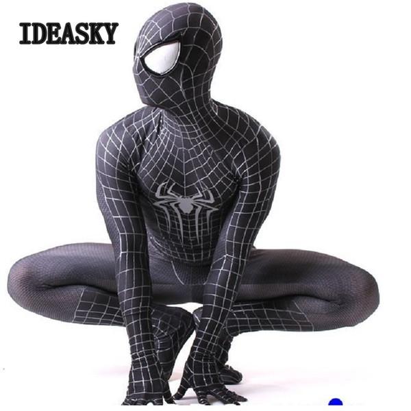 costume da guerra nero personalizzato the amazing zentai spiderman suit cosplay spider man costume adulto spandex 3d maschera di halloween guerra civile spider-man