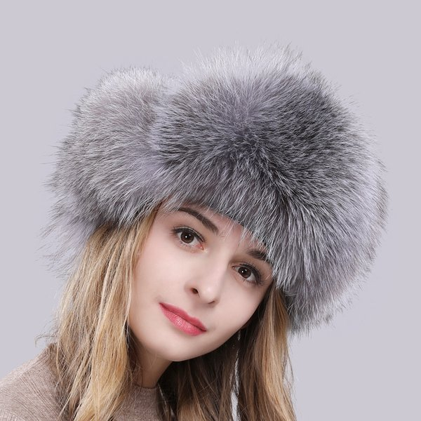 Summer New hot winter fur hat for women real fox/raccoon fur hat with leather 2018 Russia fashion warm bomber cap luxury good quality