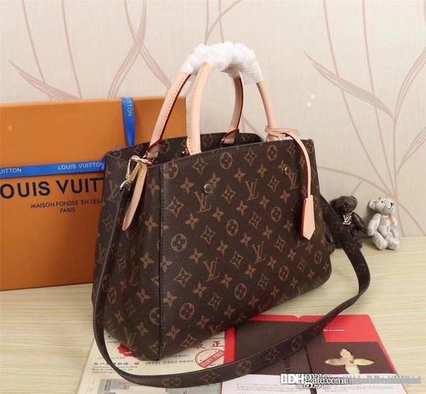 best selling LOUISVUITTON1 MONTAIGNE BB Shoulder Bags Women Leather Handbags For Woman Messenger Bags MICHAEL V18 KOR Tote Satchel M41055I