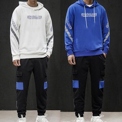 2019 Tasarımcı Tracksuits Uzun Kollu Jogger Kapşonlu Ceketler + Pantolon Suit 2 adet Seti Marka Spor Aktif Koşu Casual Gym B100000L