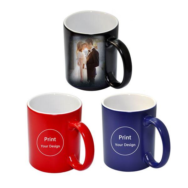 Großhandel Benutzerdefinierte Foto Magic Mug Wärmeempfindliche Keramik Tassen Personalisierte Farbwechsel Kaffee Milch Tasse Geschenk Drucken Bilder