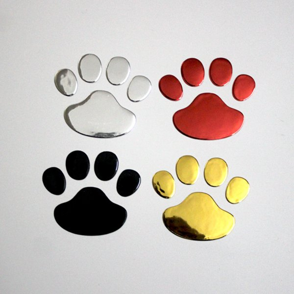 2 Pcs/lot 3D Dog Footprint PVC Car Stickers Decal Bear Cat Panda Animal Foot Print Sticker Car Styling Auto Motorcycle Decor