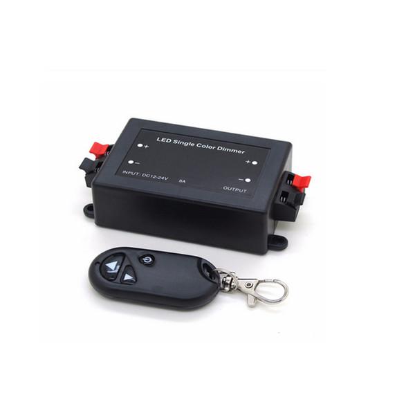 Controlador LED inalámbrico de control remoto LED de un solo color Dimmer 3 teclas RF 12V 24V DC 8A
