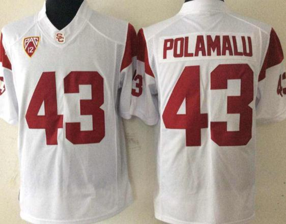 #43 Troy Polamalu White