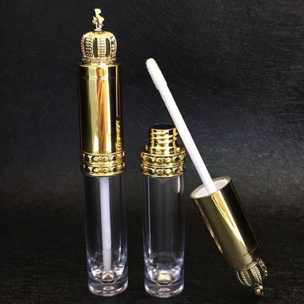 5pcs 8ml Vuoto Lip Gloss tubo trasparente Bottiglia becco del contenitore con la parte superiore del coperchio riutilizzabile di sviluppo del ciglio attrezzi cosmetici fai da te
